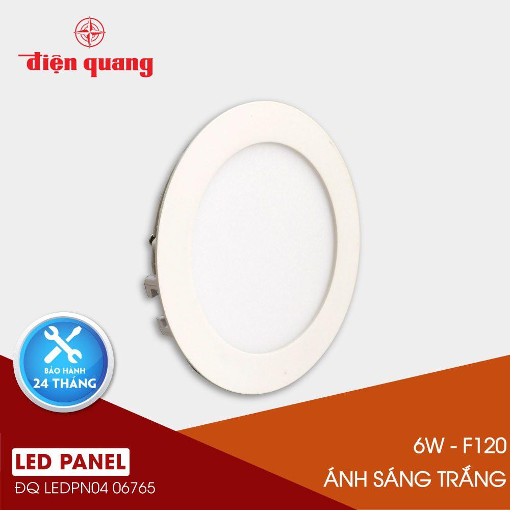 Bộ đèn LED Panel tròn Điện Quang ĐQ LEDPN04 06765 120 (6W daylight F120)