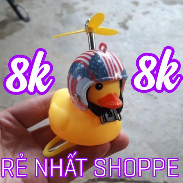 Vịt gắn xe có cánh quạt , đèn , mũ bảo hiểm , còi [ HÀNG LOẠI 1 ] FREE SHIP