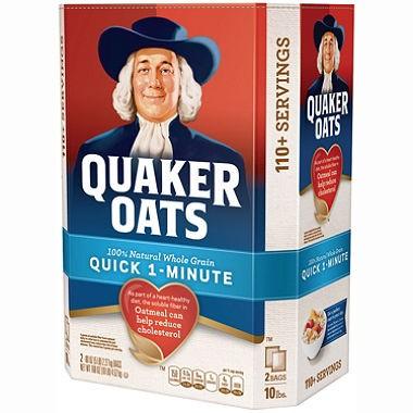Hộp 4520g Yến Mạch Hạt Vỡ Quick 1 Minute Ăn Liền Quaker Oats