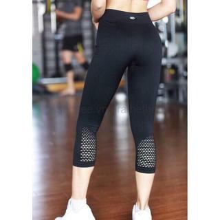 Quần tập gym nữ – Quần legging lửng đục lỗ chất thun dệt (HÀNG LOẠI 1)