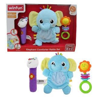 Set 3 đồ chơi cầm tay xúc xắc chíp chíp voi gặm nướu cho bé sột soạt Winfun 3026 - cho bé từ 0 tới 12 tháng thumbnail