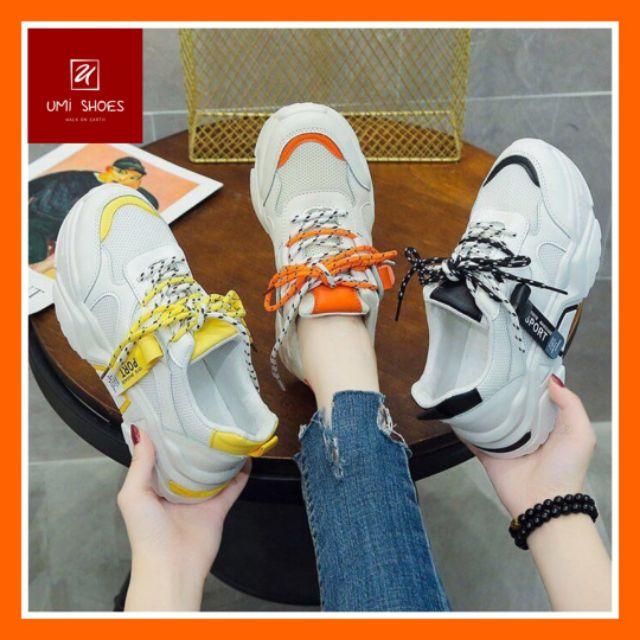 [LOẠI 1 + VIDEO ẢNH THẬT] Giày thể thao nữ trắng Ulzzang mẫu mới JINTU 4 màu cá tính đi học đi chơi đi tập đế êm 5cm