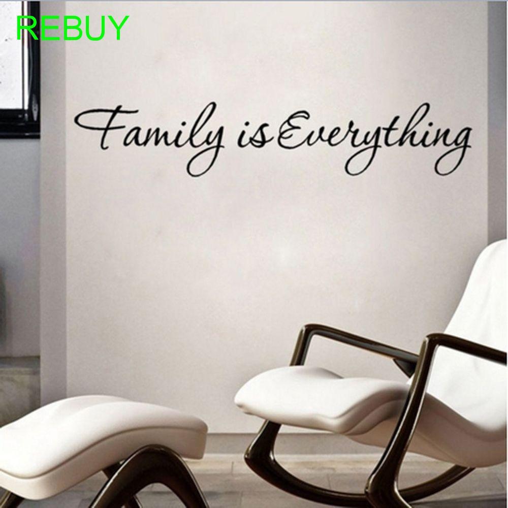 """Decal trang trí phòng khách in chữ """" Family is Everything """""""