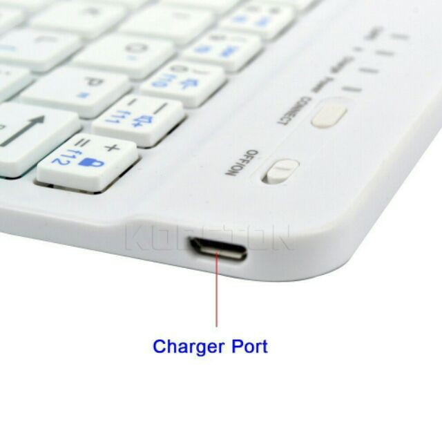 Bàn phím bluetooth mini cao cấp cho Ipad, máy tính bảng, laptop (màu trắng) shop bansigudetama