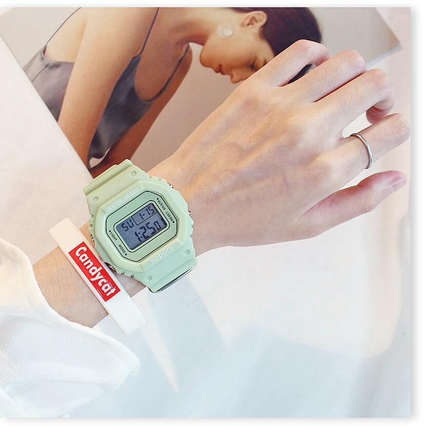 Đồng hồ điện tử SALE ️ Đồng hồ điện tử nam nữ Candycat Sppors chống trầy xước, chống thấm nước hiệu quả 9036