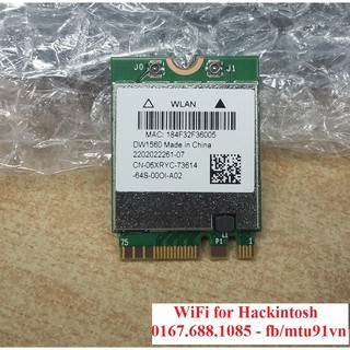 Card wifi Hackintosh DW1707 - Atheros 9565 - QCNFA335 ( Chuẩn M 2 - NGFF )