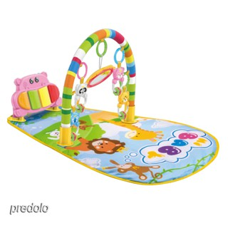 Multifunction Baby Music Pedal Piano Play Mat Toy Newborn Fitness Rack Pink