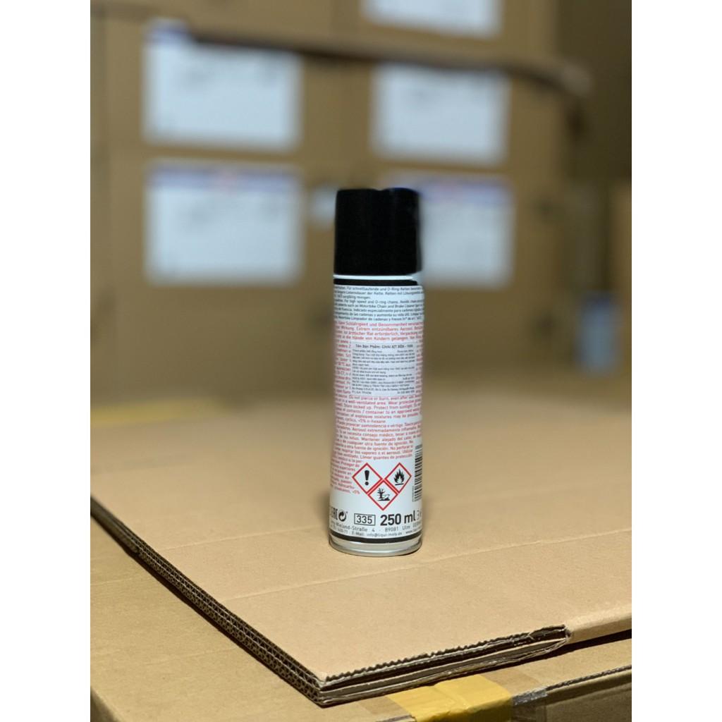 [DauNhot-PhuGia]CHAI XỊT SÊN LIQUI MOLY 250ML, Chai xịt dưỡng sên Liqui Moly 250ml tạo màng mỏng bám trên bề mặt dây sên