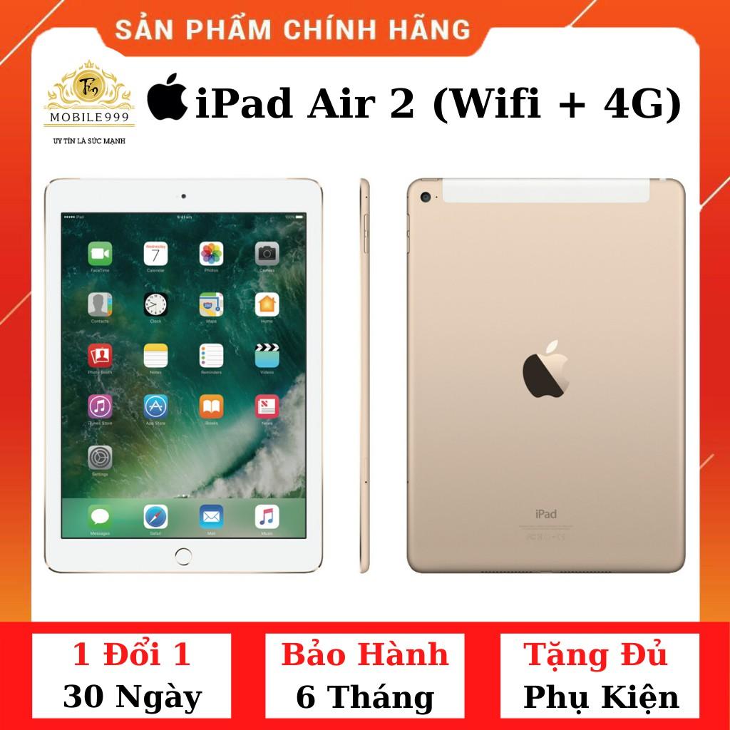 Máy Tính Bảng IPad Air 2 (Wifi + 4G) 16GB /32GB /64GB Chính Hãng - Zin Đẹp 99%