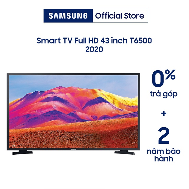 [Nhập ELSAM30 giảm 5% đơn 5TR] Smart Tivi Samsung 43 Inch Full HD UA43T6500AKXXV (Model 2020 - Voice Search)