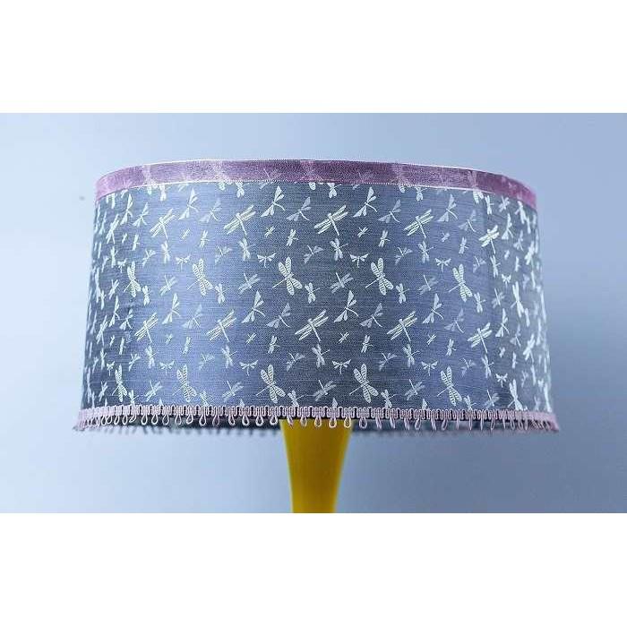 Đèn gốm vẽ tay lụa Hà Đông mùa thu hoa bướm, Đèn Gốm Sứ Bát Tràng trang trí nội thất, đèn phòng ngủ