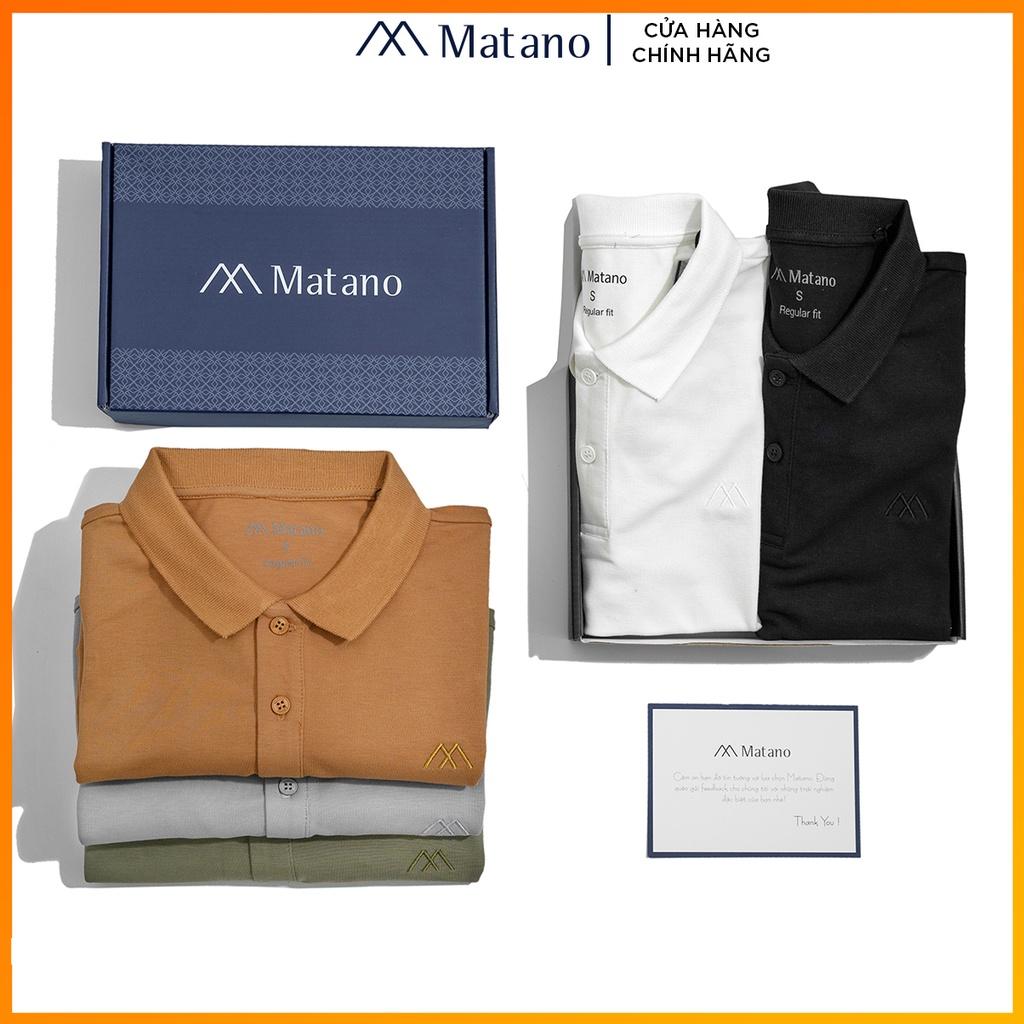 Áo polo nam trơn basic đẹp MATANO - Áo thun nam có cổ trụ bẻ, vải cá sấu cotton cao cấp chính hãng hàng hiệu giá rẻ 023