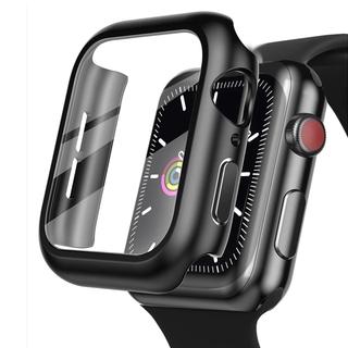 Vỏ nhựa nhám có kính cường lực bảo vệ toàn diện cho Apple Watch 44mm 40mm 42mm 38mm Series 6 5 4 3 thumbnail