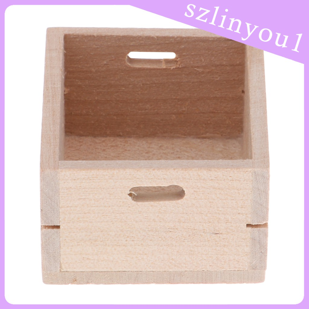 New Arrival 1/12 Dollhouses Miniature Furniture Blank Fruit Vegetable Storage Box Accs