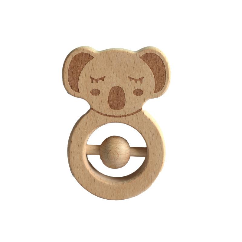 1 Đồ Chơi Lục Lạc Hình Gấu Koala Bằng Gỗ 5.5cm X 9cm Cho Bé