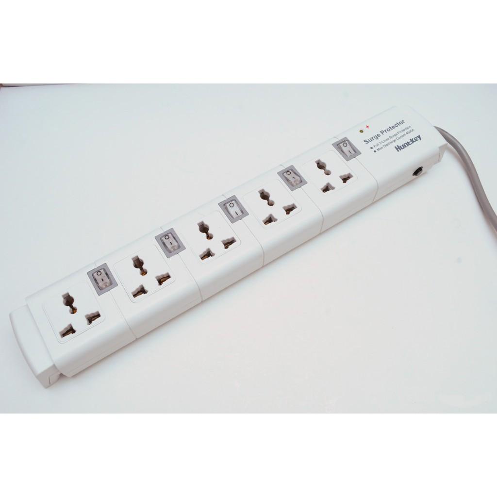 Ổ cắm điện đa năng chống sét Huntkey PZC504 (nút xám )-VIT