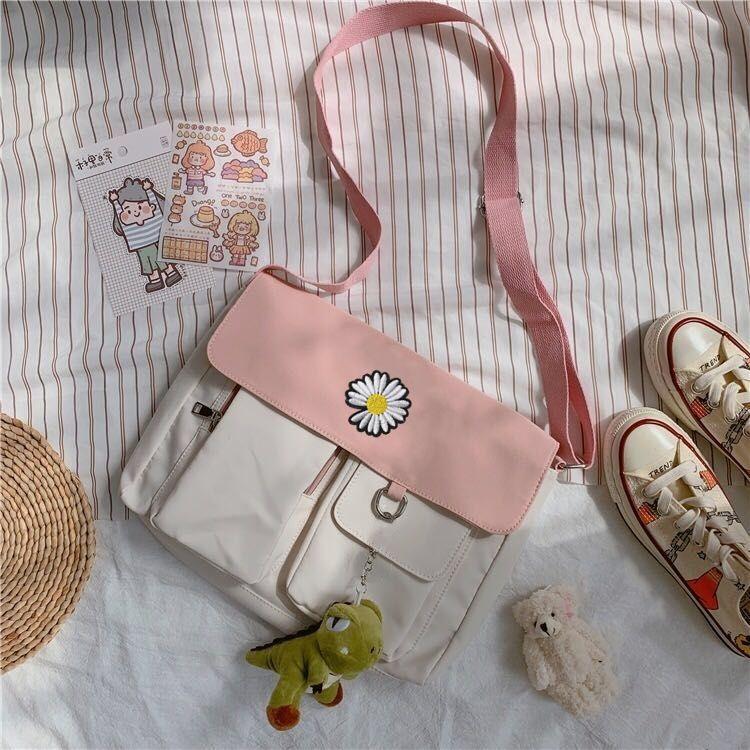 Túi Vải Canvas Phong Cách Hàn Quốc Cho Nữ