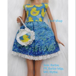 Sét đầm túi vịt con barbie
