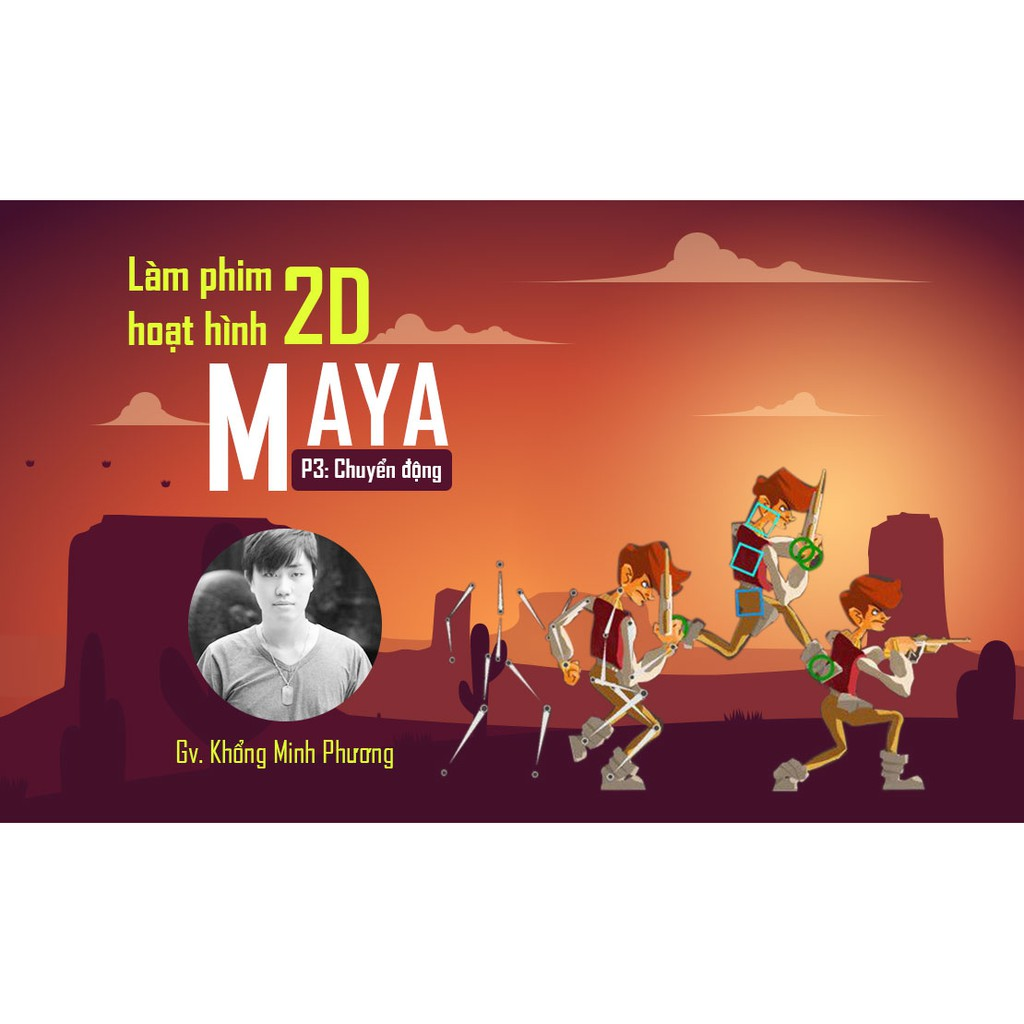 [Voucher-Khóa Học Online] Làm phim hoạt hình 2D với Maya - Phần 3 chuyển động - Toàn Quốc - HereEast