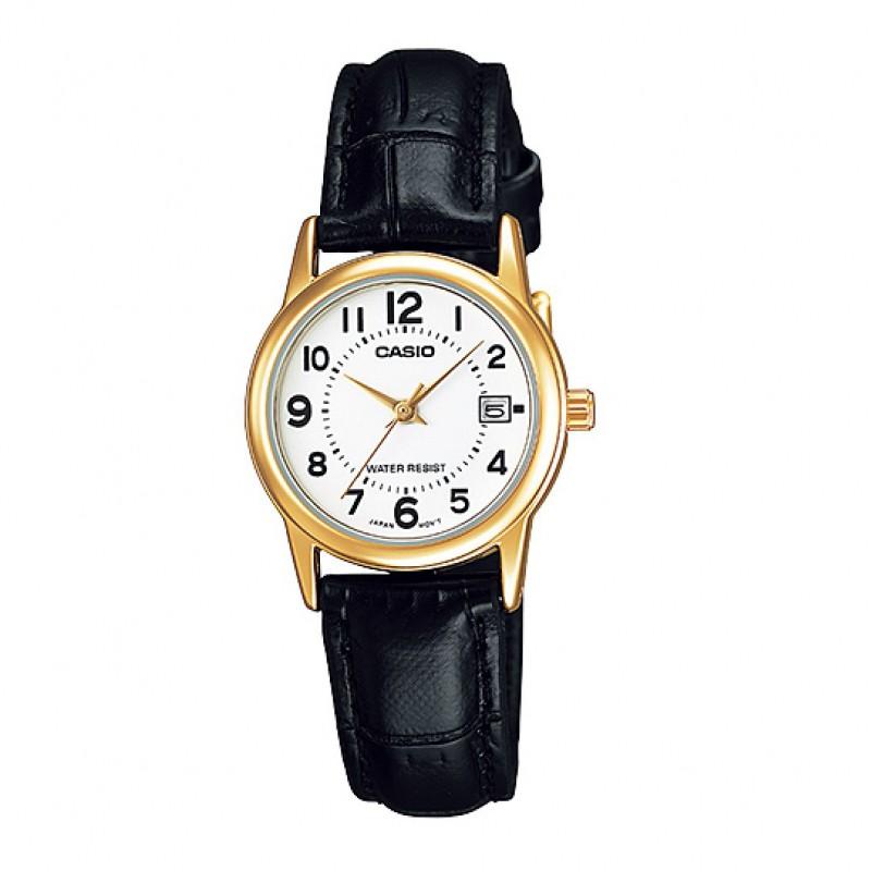 Đồng hồ nữ Casio CHÍNH HÃNG LTP-V002GL-7BUDF, DÂY DA - 2525217 , 1019142471 , 322_1019142471 , 713000 , Dong-ho-nu-Casio-CHINH-HANG-LTP-V002GL-7BUDF-DAY-DA-322_1019142471 , shopee.vn , Đồng hồ nữ Casio CHÍNH HÃNG LTP-V002GL-7BUDF, DÂY DA