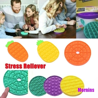 Mornin☪1pcs Bubble Popping Push Press Sensory Silicone Toy Stress Reliever Kids Gift