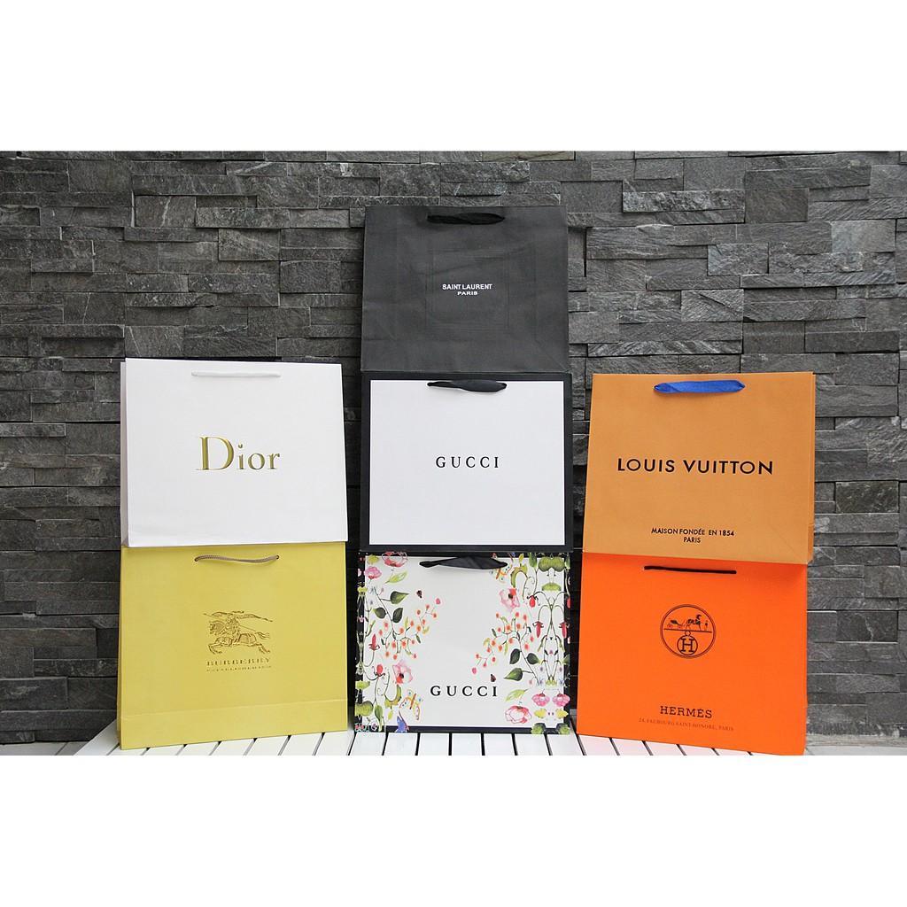 Túi Giấy, Túi xách Giấy, Túi Giấy nữ các hiệu size 32cm x 26cm x 10cm (Xem phân loại)