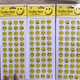 1 miếng sticker nổi icon cảm xúc dán điện thoại , máy tính , sổ tay