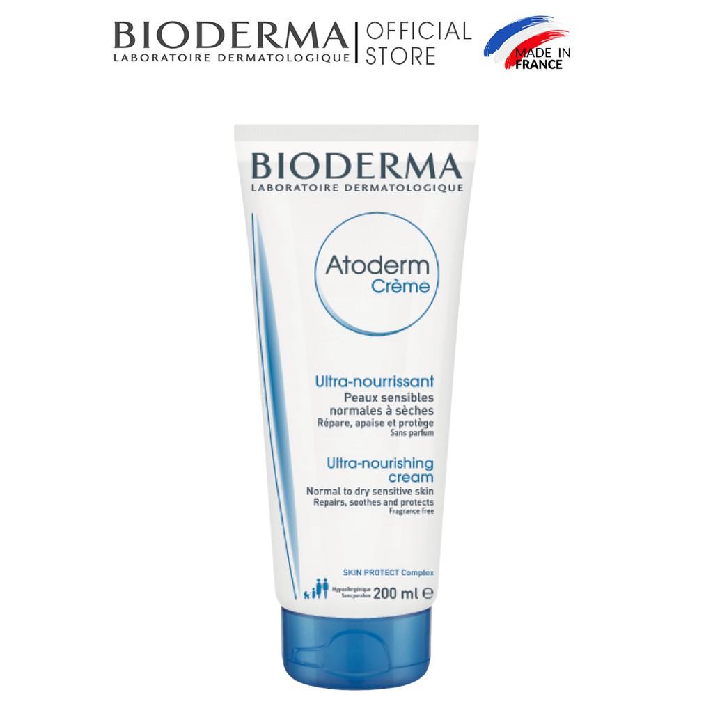Kem dưỡng ẩm cho da khô nhạy cảm,da khô và rất khô Bioderma Atoderm Crème - 200ml