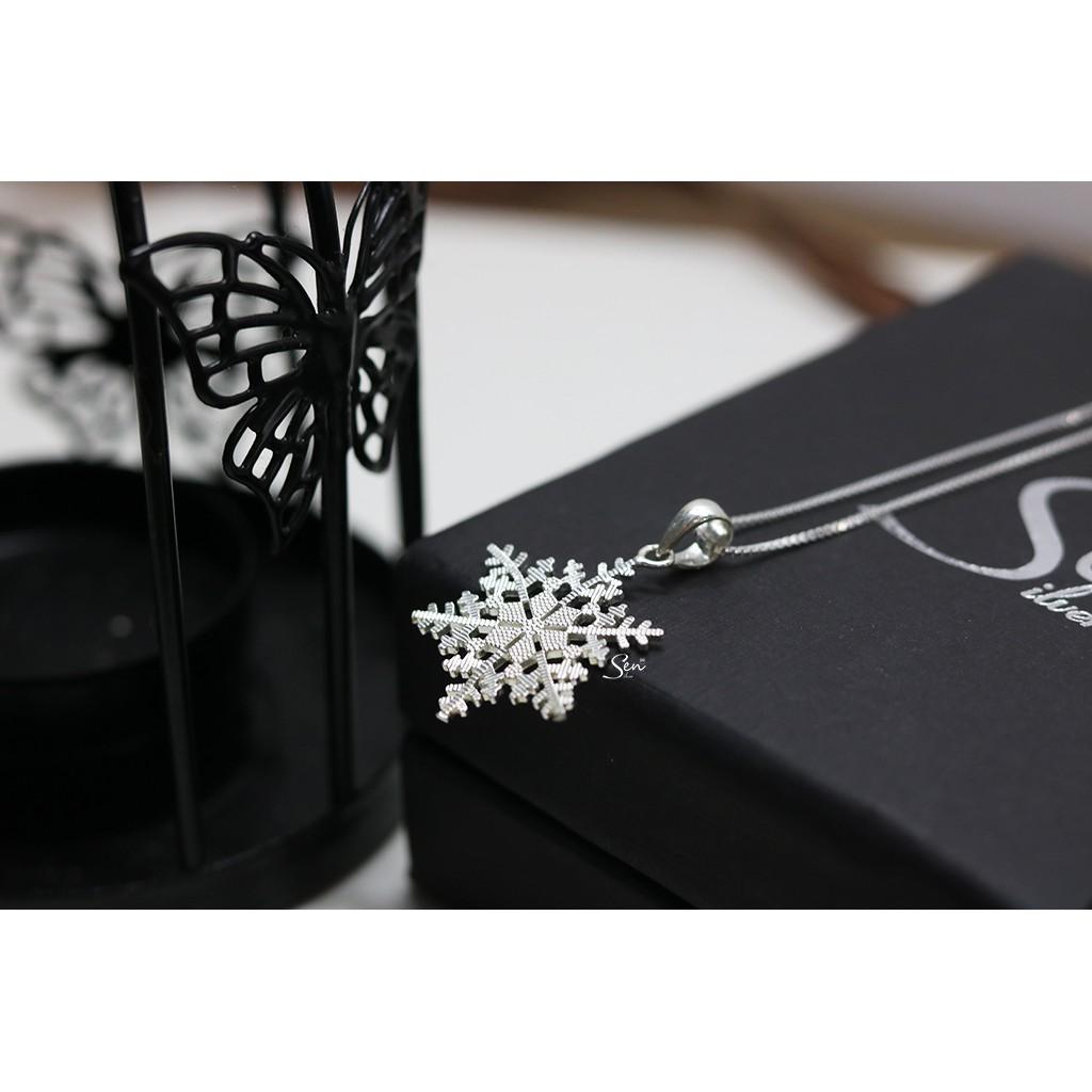 Dây chuyền hoa tuyết cắt giác bạc 925 Senyda Jewelry DC221