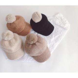 Mũ Len Ấm Mỏ Vịt Chó Bé Trai Bé Gái Size 48cm – 50cm