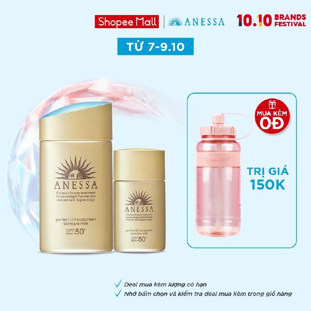 [Mã COS0710 -8% ĐH250k]Bộ đôi chống nắng bảo vệ hoàn hảo Anessa Perfect UV Sunscreen Skincare Milk