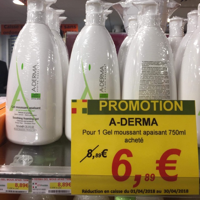 ( gom sale ) sữa tắm Aderma Pháp