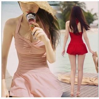 Bikini 1 mảnh ôm dáng, đồ bơi nữ 1 mảnh, bikini áo tắm đen đỏ, bikini cao cấp 1 mảnh, đầm lót hở lưng đồ bơi đi biển