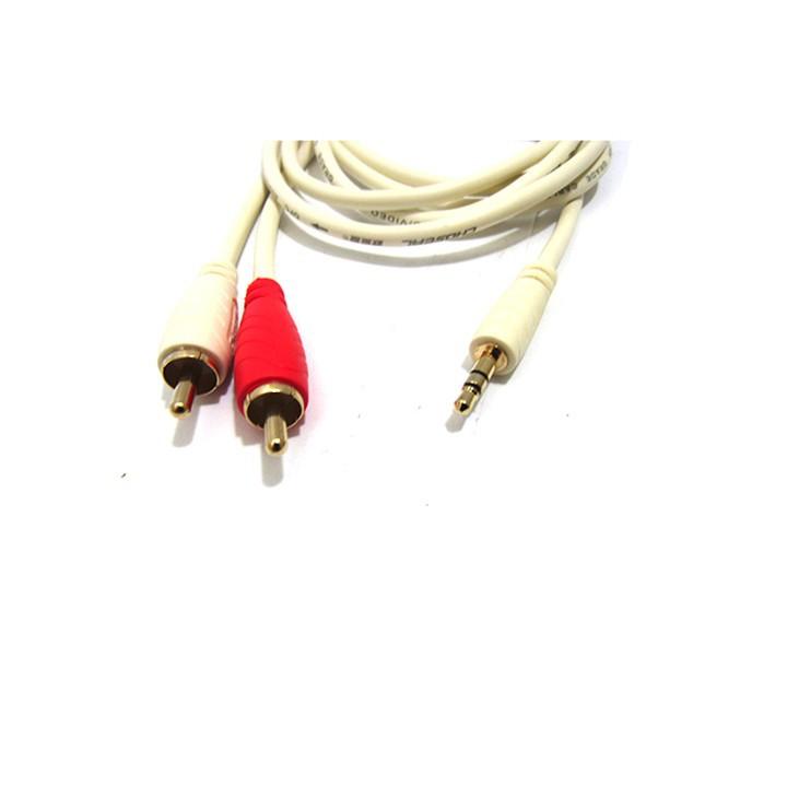 Cáp Audio 3.5 to RCA AV Audio 1.8m Loại Xịn Giá Rẻ