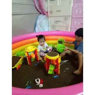 Combo đồ chơi xúc cát 3 gồm 1 bể phao 168cm + 10 kg hạt muồng + 2 bộ đồ chơi