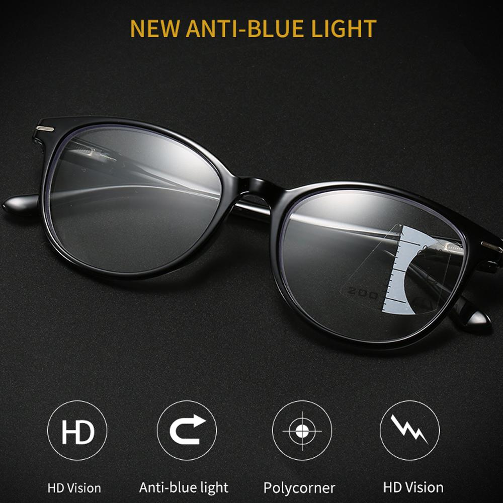 👒OSIER🍂 Men Women Presbyopia Glasses UV Protection Progressive Multifocal Reading Glasses Vision Care Readers Eyeglasses Vision Diopter Blue Light Blocking...