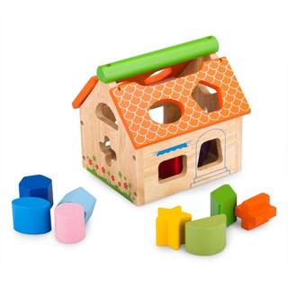 Đồ chơi gỗ WinWinToys nhà thả 12 khối 68022