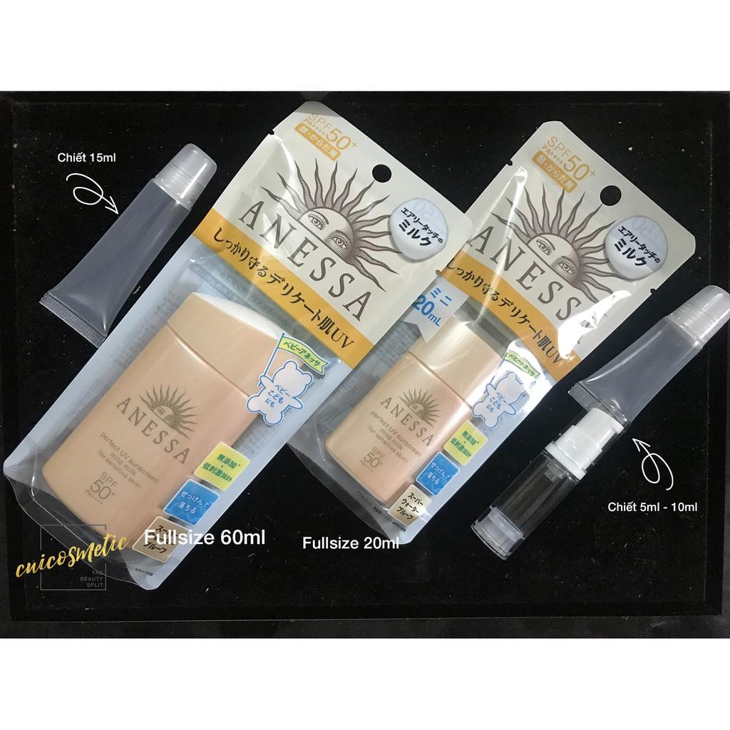 (Chiết/Fullsize 20ml & 60ml) Kem Chống Nắng Anessa Shiseido Perfect UV Sunscreen Mild Milk cho da nh - 2588092 , 940587400 , 322_940587400 , 625000 , Chiet-Fullsize-20ml-60ml-Kem-Chong-Nang-Anessa-Shiseido-Perfect-UV-Sunscreen-Mild-Milk-cho-da-nh-322_940587400 , shopee.vn , (Chiết/Fullsize 20ml & 60ml) Kem Chống Nắng Anessa Shiseido Perfect UV Sunscre