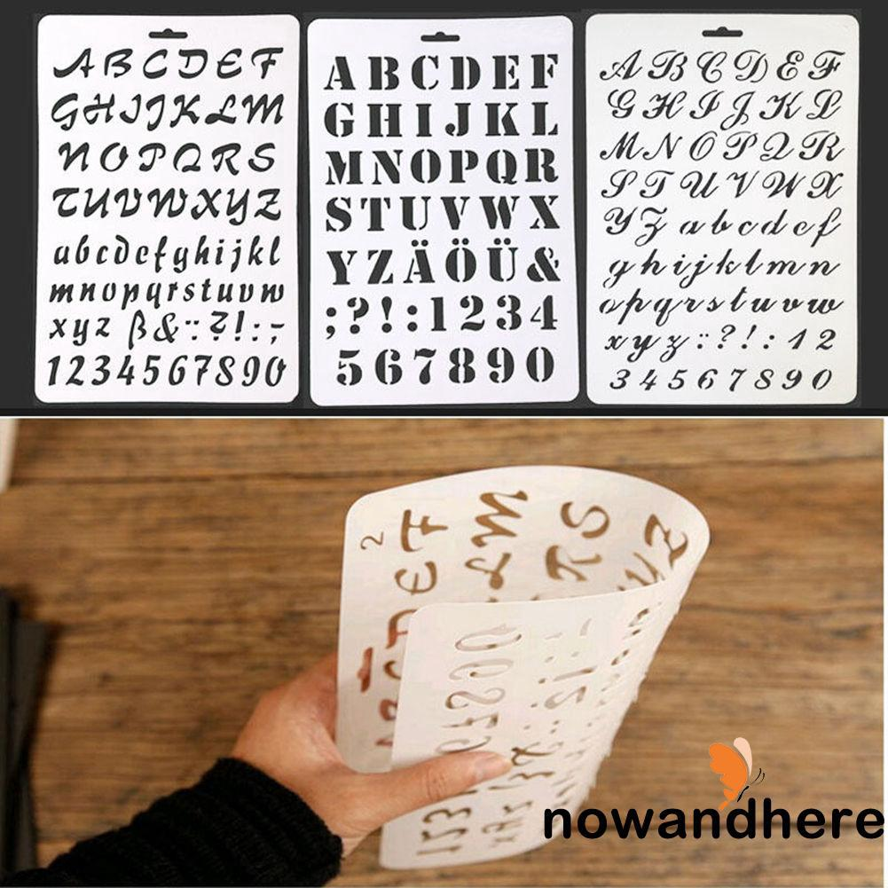 HVV-Letter Plastic Stencil Plastic Drawing Toys Set letter and number paint art