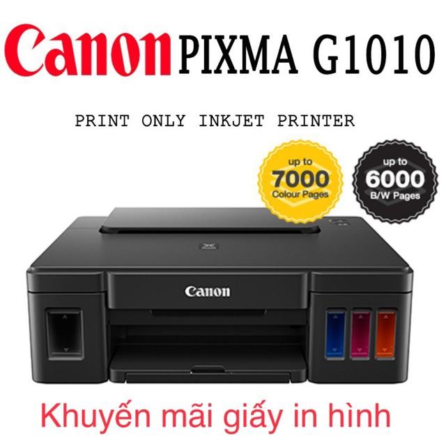 Máy in canon G1010 chính hãng khuyến mãi 1 xấp giấy in hình