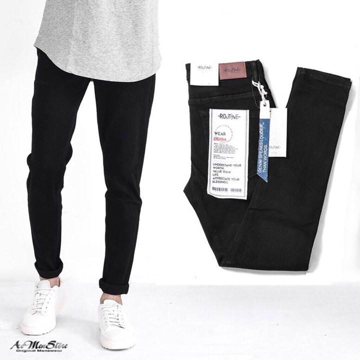 Quần jean nam đen hàng độc quyền Routine Quần Jean