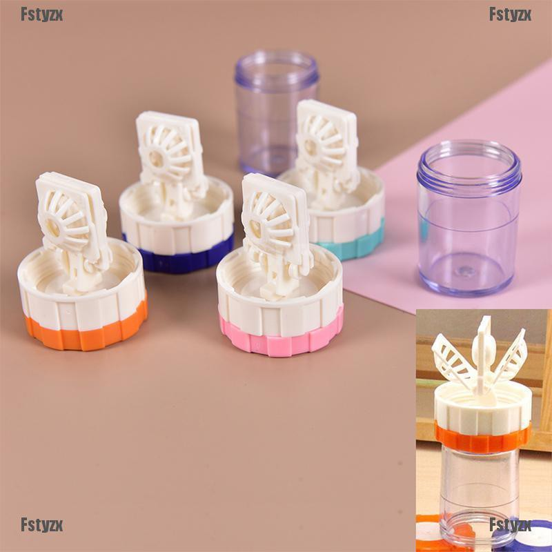 Fstyzx Latest Plastic Manually Cleaning Lenses Case Contact Lens Cleaner Washer