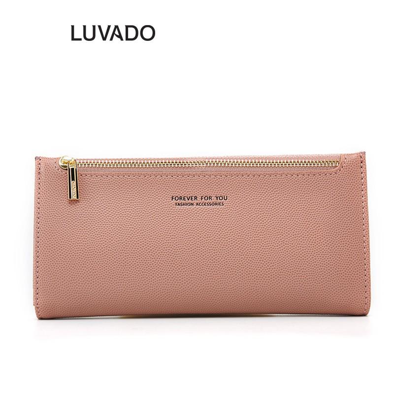 Ví nữ cầm tay đẹp cao cấp FOREVER FOR YOU nhiều ngăn dáng dài đựng tiền LUVADO VD347