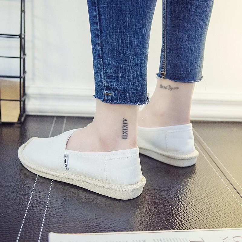 [Mã SKAMCLU7 giảm 10% Tối Đa 50K đơn 0Đ] Slip on cói nữ - Giày lười vải nữ cao cấp - 3 màu đen, đỏ và trắng - Mã SP B17