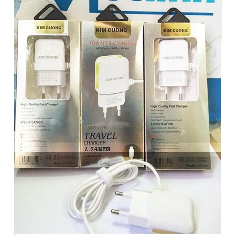 SẠC KIM CƯƠNG TRẮNG 1.5A (CÓ CỔNG USB)