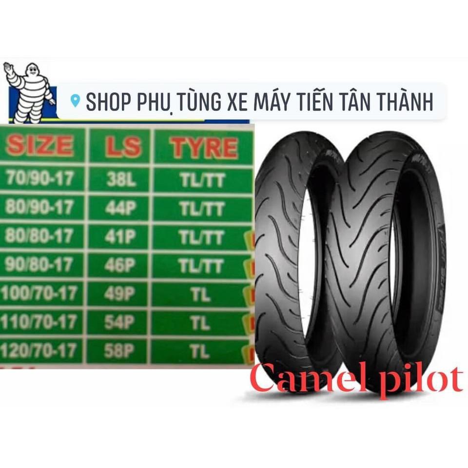 Vỏ lốp xe máy CAMEL pilot 70/90-80/90-90/80-100/70-110/70-120/70-17 inches.(không dùng ruột)