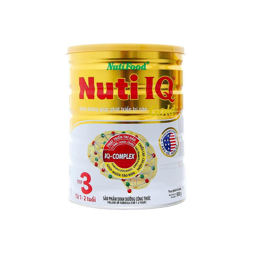Sữa Nuti IQ Gold Step 3 900g (1-2 tuổi) mẫu mới nắp gài