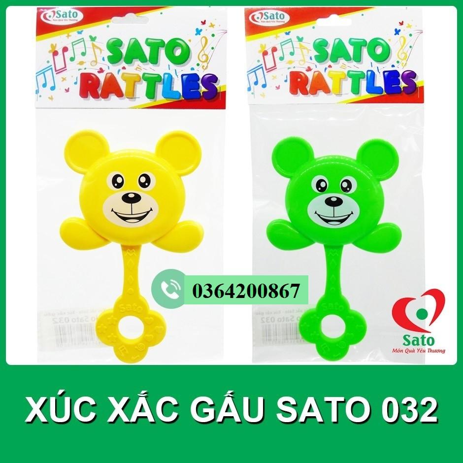 Đồ chơi XÚC XẮC GẤU cầm tay Sato / LỤC LẠC cho bé