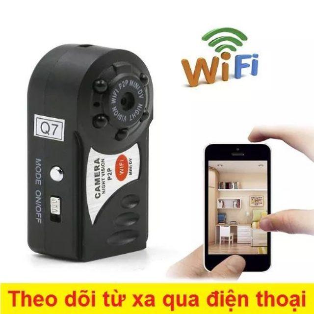 Camera mini Q7 xem qua wifi siêu nét