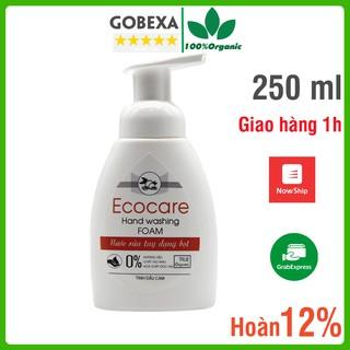 Nước rửa tay Ecocare bồ hòn hữu cơ dạng bọt cam, quế, nhài 250ml thumbnail